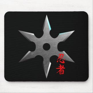 Ninja Throwing Star Mouse Pad