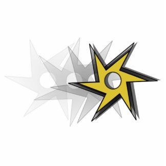 Ninja Throwing Star Standing Photo Sculpture