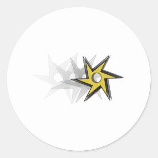 Ninja Throwing Star Round Sticker