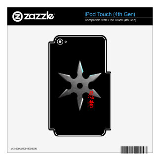 Ninja Throwing Star Decal For iPod Touch 4G