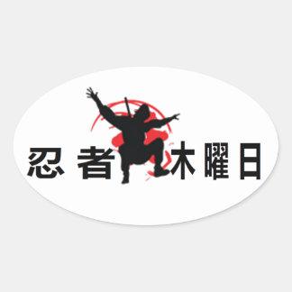 Ninja Thursdays Oval Stickers