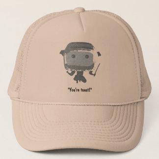 """Ninja Toaster, """"You're toast!"""" Trucker Hat"""
