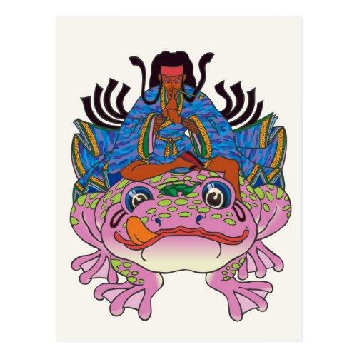 ninja, frog, japanese, Ninja, Japanese style, Illustration, Month, kimono, Witchcraft, Patience technique, Night, moonlight, night, asian, girl, pop, Pop, Kimono, amphibian, animal