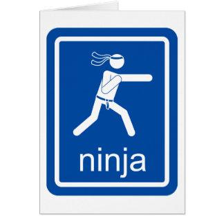 ninja universal sign greeting card