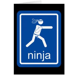 ninja universal sign. greeting card
