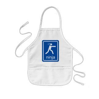 ninja universal sign kids' apron