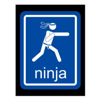 ninja universal sign. postcard