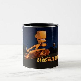 Ninja urbano taza de dos tonos