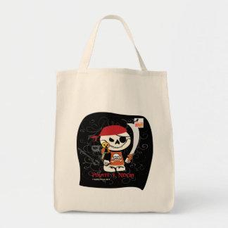 Ninja v Pirate Grocery Tote Bag
