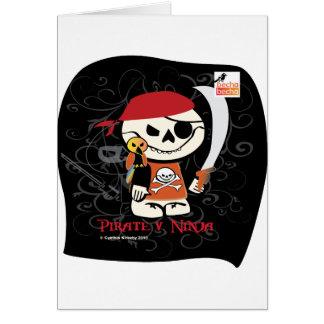 Ninja v Pirate Card