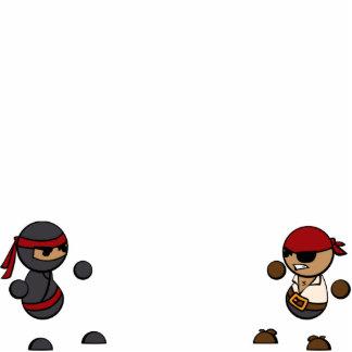 Ninja vs Pirate Standing Photo Sculpture