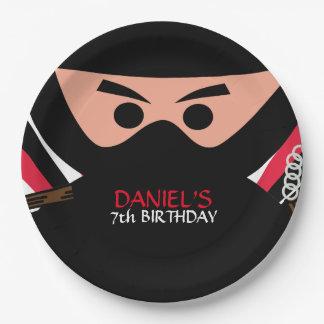 Ninja Warrior Birthday 9 Inch Paper Plate