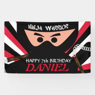 Ninja Warrior Birthday Banner