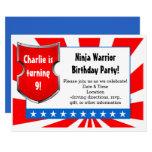 Ninja Warrior Birthday Party Kids Boys Patriotic Card