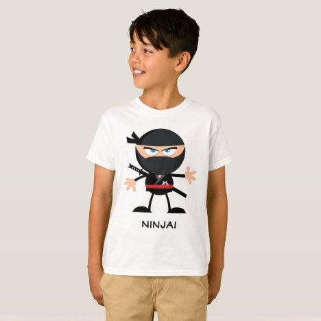 Ninja Warrior Cartoon T-Shirt