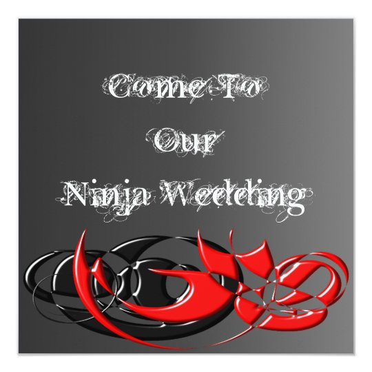 Ninja Wedding Invitation