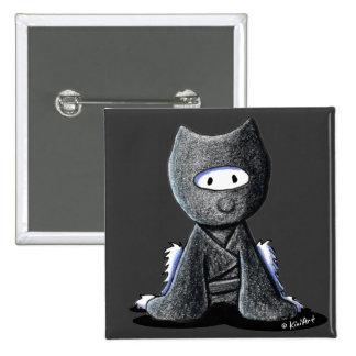 Ninja Westie 2 Inch Square Button