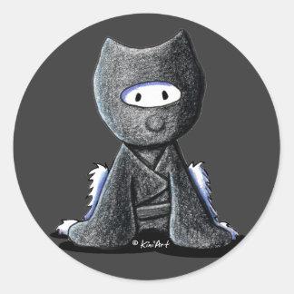 Ninja Westie Classic Round Sticker