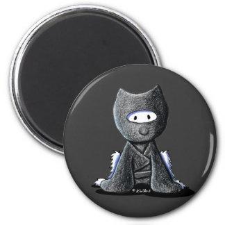 Ninja Westie Imán Redondo 5 Cm