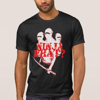 NINJA WHAT? wht. red. T-Shirt