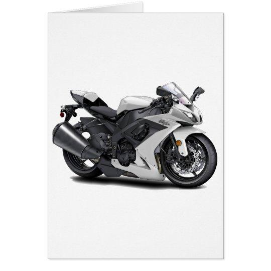 Ninja White Bike Card