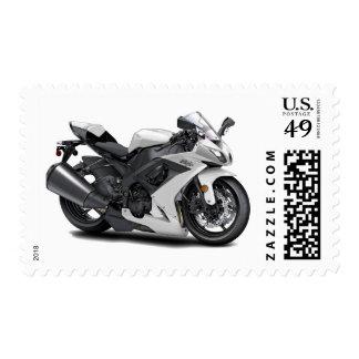 Ninja White Bike Stamp