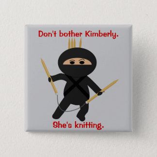 Ninja With Circular Knitting Needles Button