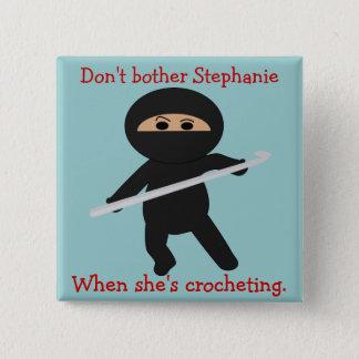 Ninja with Crochet Hook Button