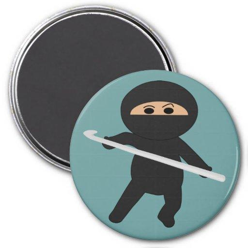 Ninja With Crochet Hook Magnet