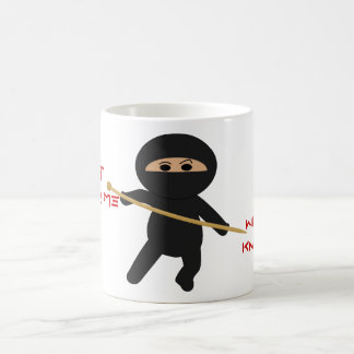 Ninja With Knitting Needle Mug
