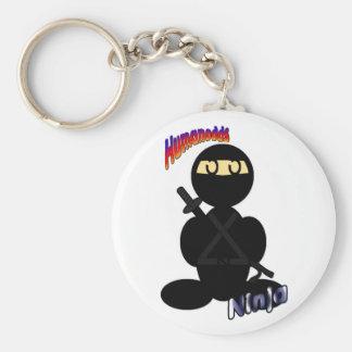Ninja (with logos) keychain