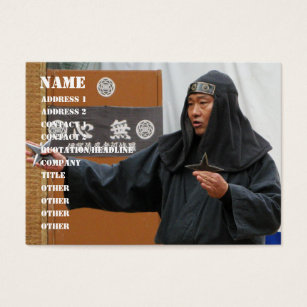 Ninja star business cards templates zazzle ninja with shuriken throwing star business card reheart Gallery