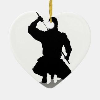 Ninja with Sword Ceramic Ornament