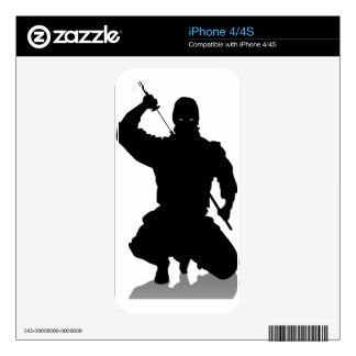 Ninja with Sword iPhone 4S Skins