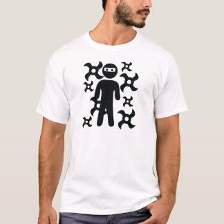ninja with trowing stars icon T-Shirt