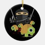 Ninja with Turtles Ceramic Ornament