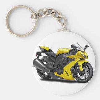 Ninja Yellow Bike Key Chain