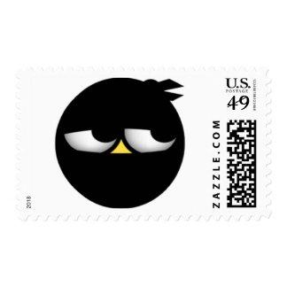 Ninja-Yellow Postage Stamp