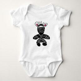 Ninja Zebra Baby Bodysuit
