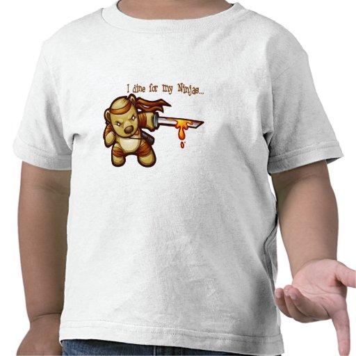 Ninjabear (Front/Back) T-shirts