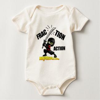 "Ninjabra - Wasabi ""Fraction Action"" Baby Bodysuit"