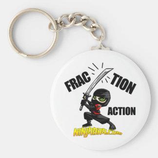 "Ninjabra - Wasabi ""Fraction Action"" Basic Round Button Keychain"