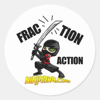 "Ninjabra - Wasabi ""Fraction Action"" Classic Round Sticker"