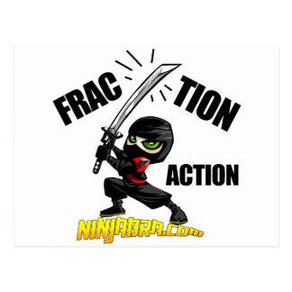 "Ninjabra - Wasabi ""Fraction Action"" Postcard"