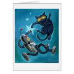 Ninjacat vs Robot card