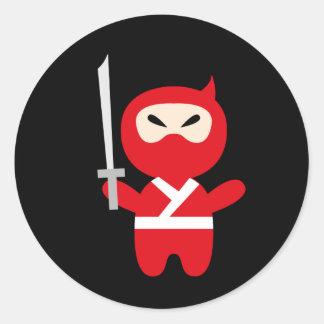 NinjaCutie10 Classic Round Sticker