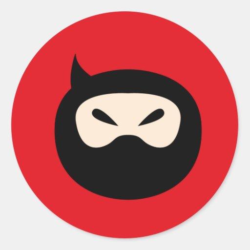 NinjaCutie6 Pegatina Redonda