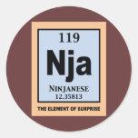 Ninjanese Classic Round Sticker