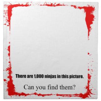Ninjas 1000 servilleta imprimida