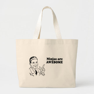 NINJAS ARE AWESOME CANVAS BAGS